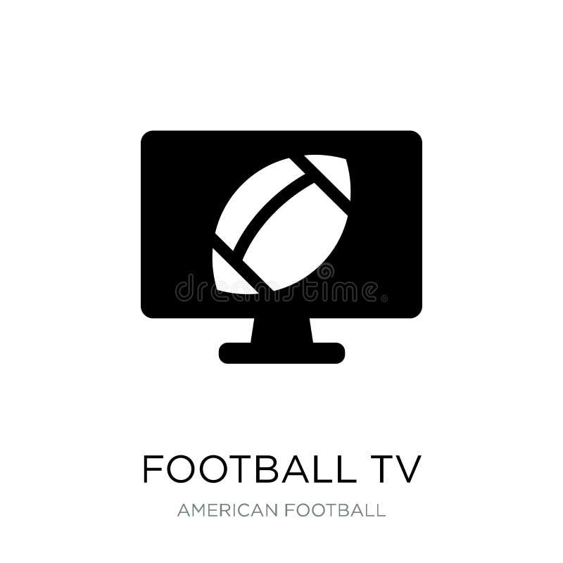 ícone do programa da tevê do futebol no estilo na moda do projeto Ícone do programa da tevê do futebol isolado no fundo branco ve ilustração do vetor