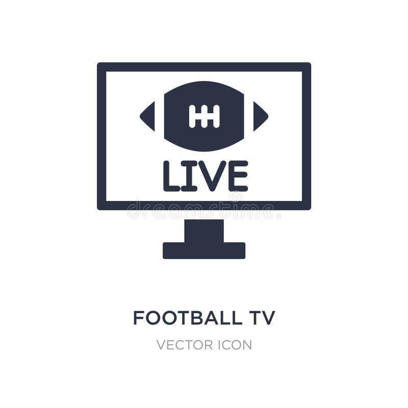 ícone do programa da tevê do futebol no fundo branco Ilustração simples do elemento do conceito do futebol americano ilustração do vetor
