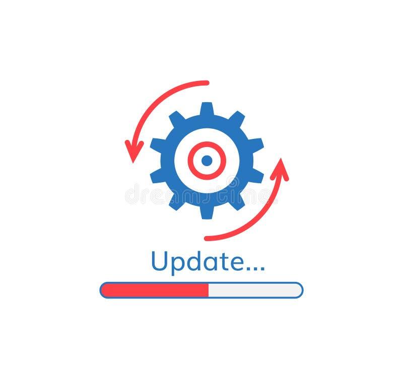 Ícone do progresso da aplicação da atualização ilustração stock