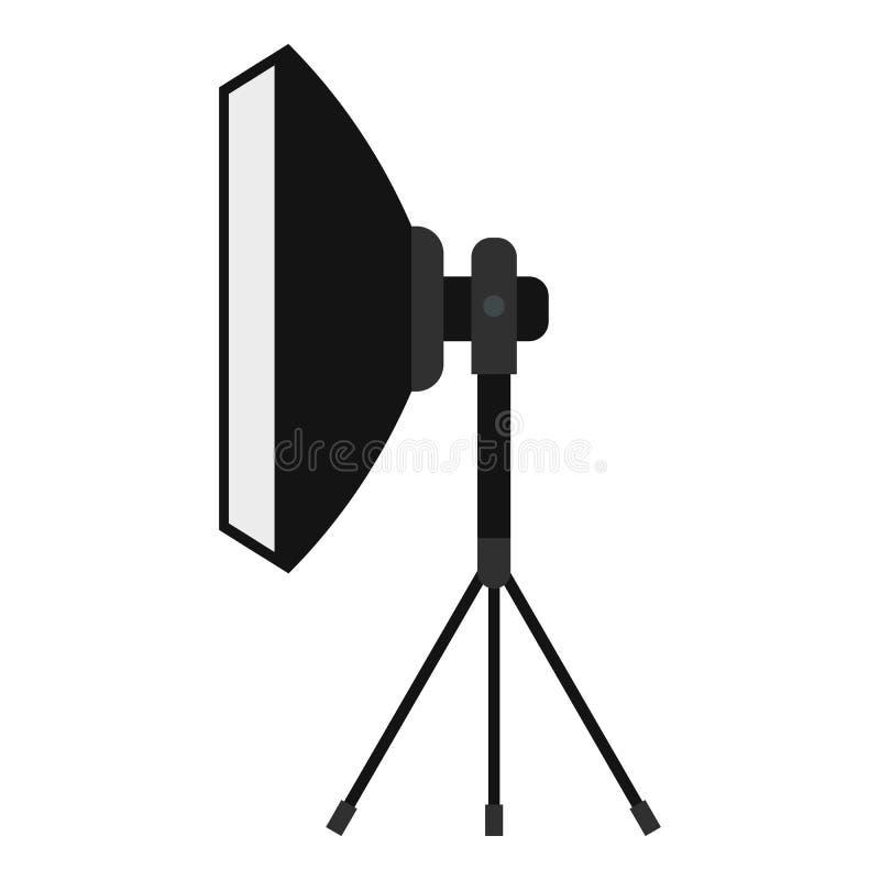 Ícone do projetor, estilo liso ilustração stock