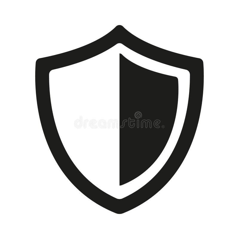 Ícone do protetor no fundo branco ilustração do vetor