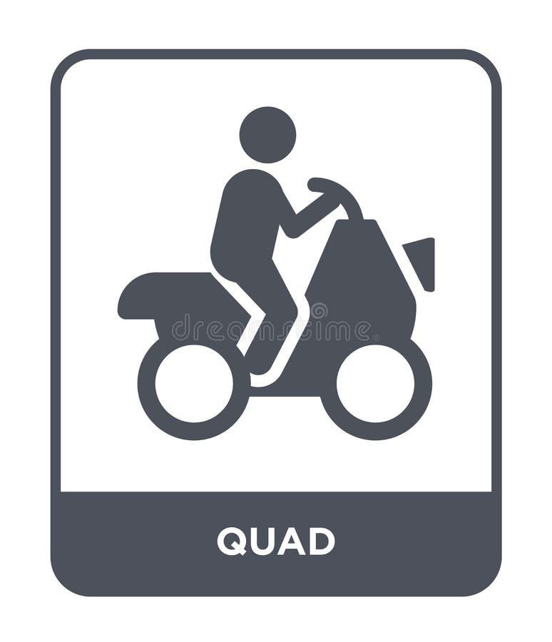 ícone do quadrilátero no estilo na moda do projeto ícone do quadrilátero isolado no fundo branco símbolo liso simples e moderno d ilustração do vetor