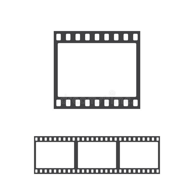 Ícone do quadro da foto do vetor Tira do filme sem emenda ilustração royalty free