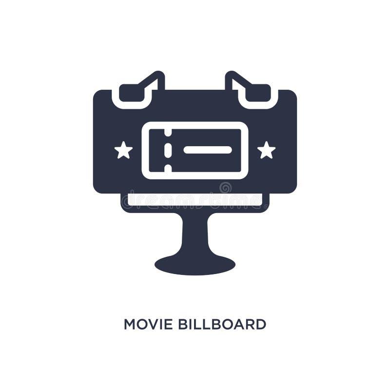 ícone do quadro de avisos do filme no fundo branco Ilustração simples do elemento do conceito do cinema ilustração royalty free