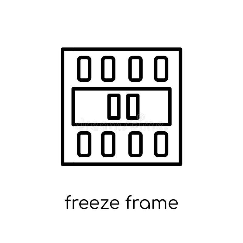 ícone do quadro de gelo Quadro de gelo linear liso moderno na moda do vetor ilustração stock