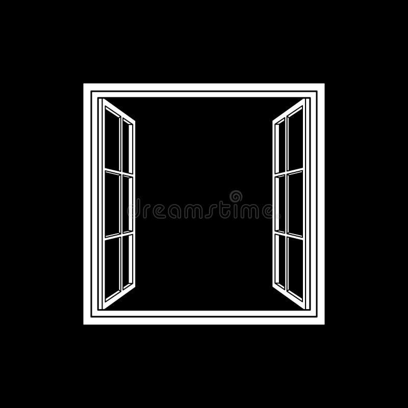 Ícone do quadro de janela aberta ilustração do vetor