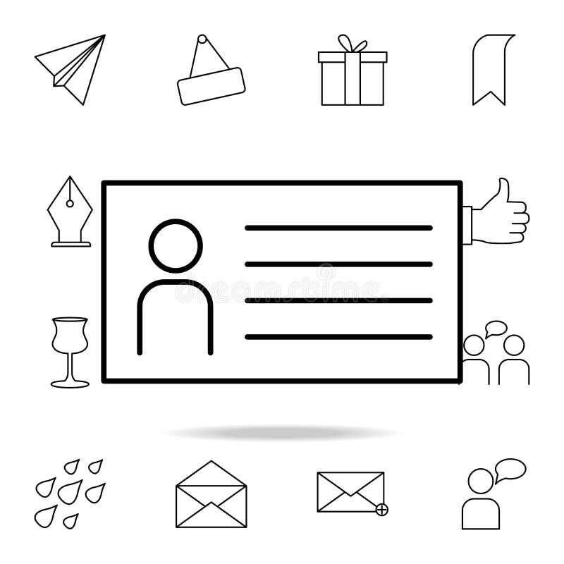 ícone do questionário do empregado Grupo detalhado de ícones simples Projeto gráfico superior Um dos ícones da coleção para Web s ilustração do vetor