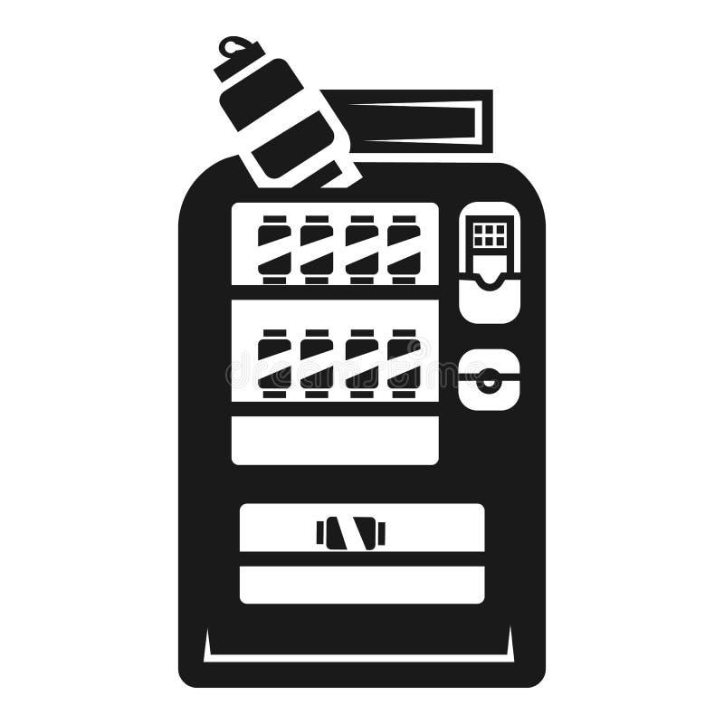 Ícone do quiosque da soda da bebida, estilo simples ilustração royalty free