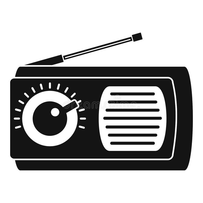 Ícone do rádio manual, estilo simples ilustração do vetor