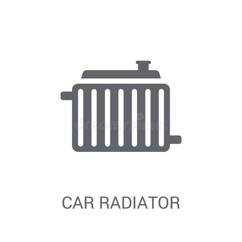Ícone do radiador do carro  ilustração royalty free
