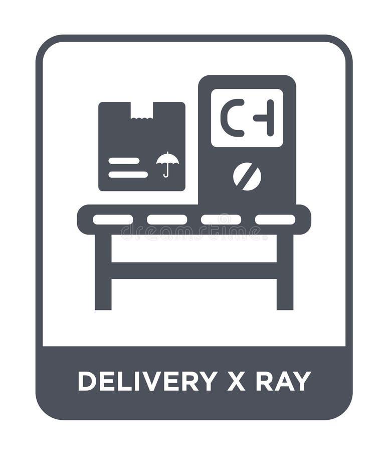 ícone do raio da entrega x no estilo na moda do projeto ícone do raio da entrega x isolado no fundo branco ícone do vetor do raio ilustração do vetor