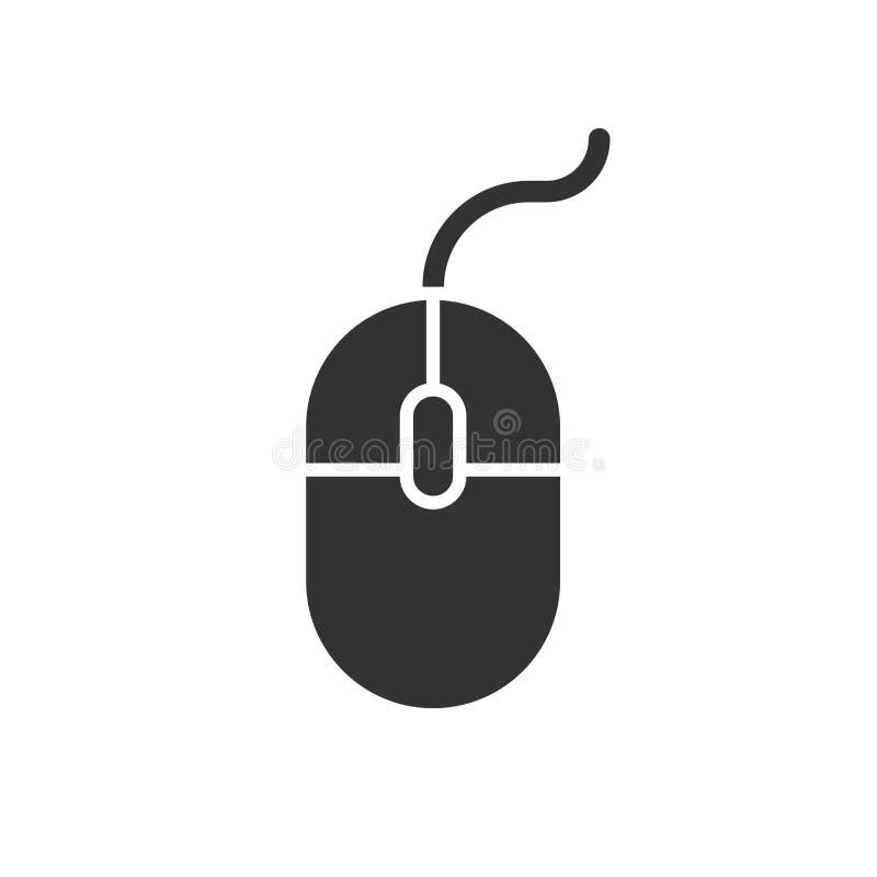 Ícone do rato do computador Ilustração do vetor Rato do conceito do negócio ilustração do vetor