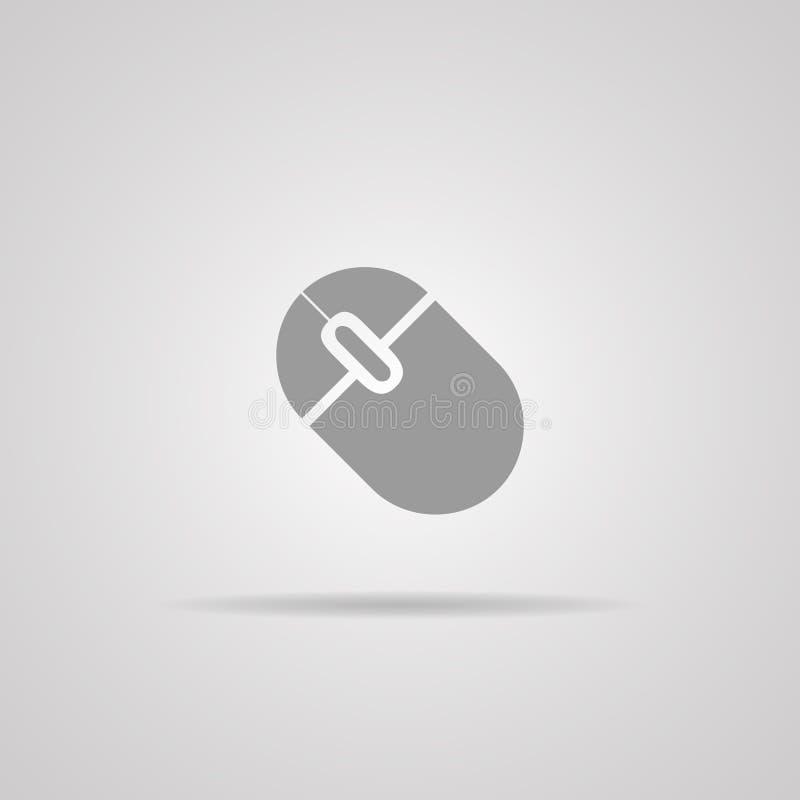 Ícone do rato do computador, ilustração do vetor fotos de stock royalty free
