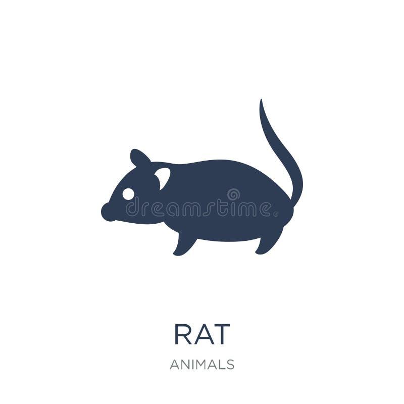 Ícone do rato Ícone liso na moda do rato do vetor no fundo branco da ilustração stock