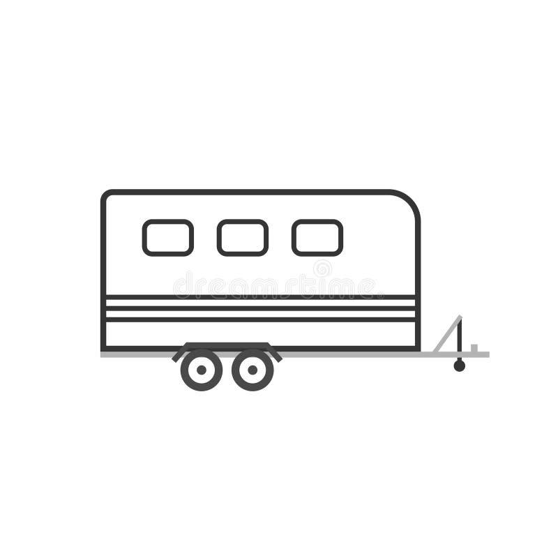 Ícone do reboque do cavalo ilustração do vetor