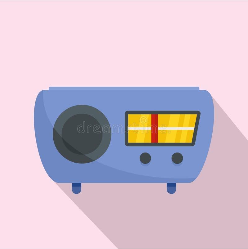 Ícone do receptor de rádio, estilo liso ilustração do vetor
