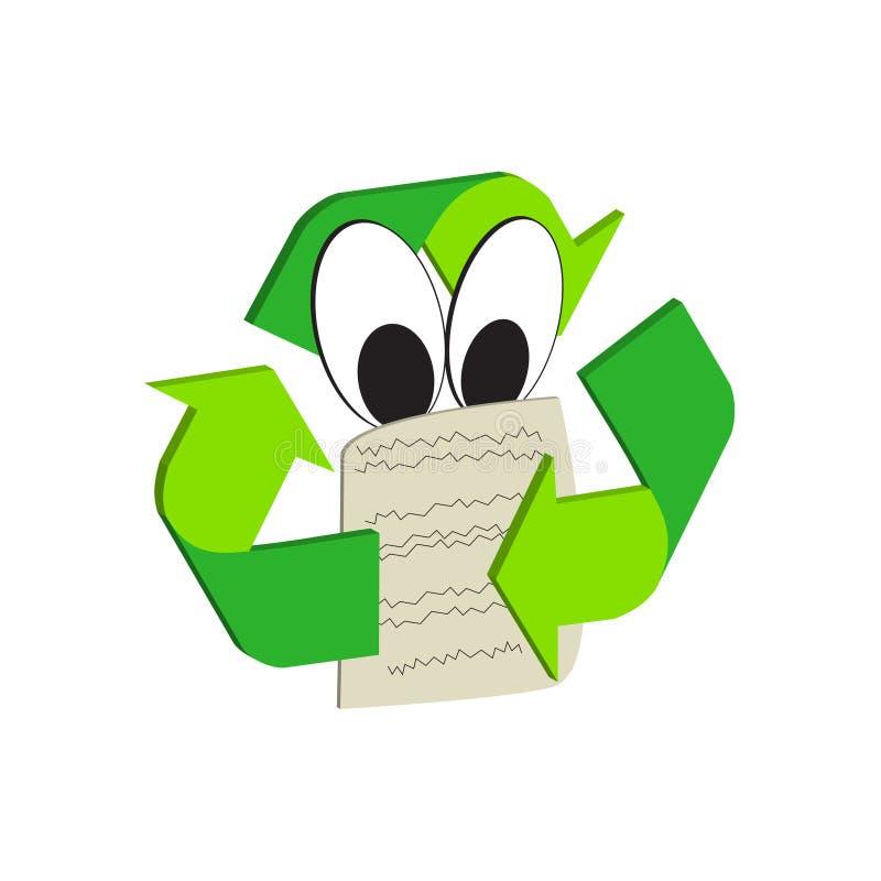 Ícone do recicl ilustração stock