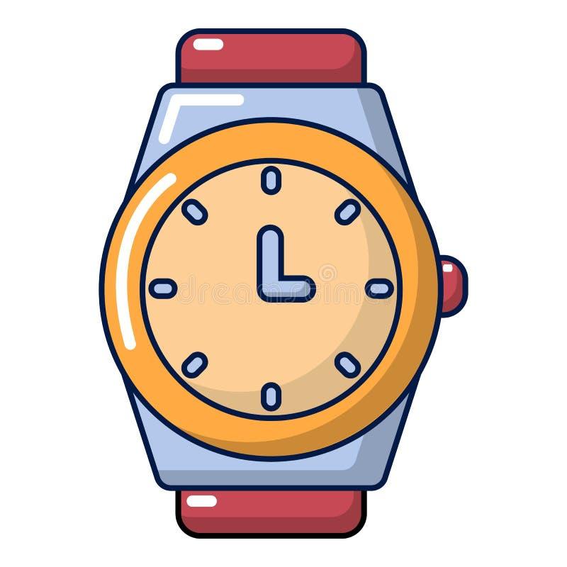 Ícone do relógio, estilo dos desenhos animados ilustração stock