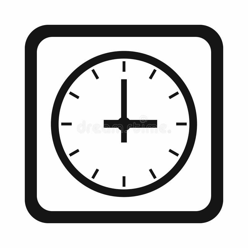 Ícone do relógio, estilo simples ilustração do vetor