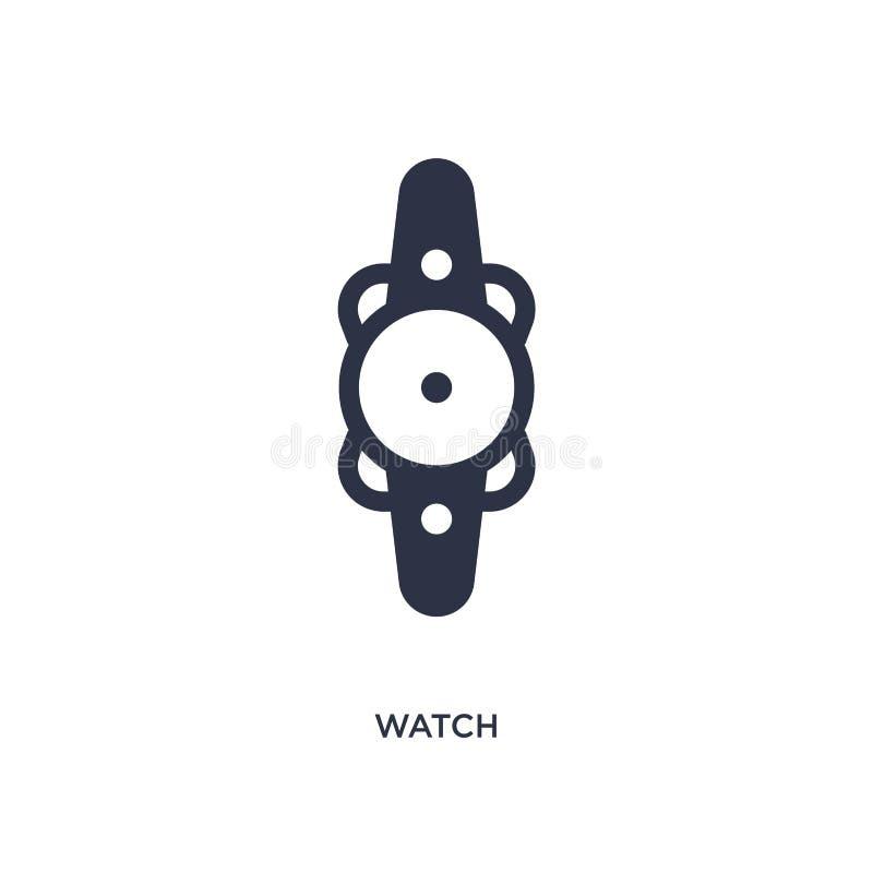Ícone do relógio no fundo branco Ilustração simples do elemento do conceito da educação 2 ilustração royalty free