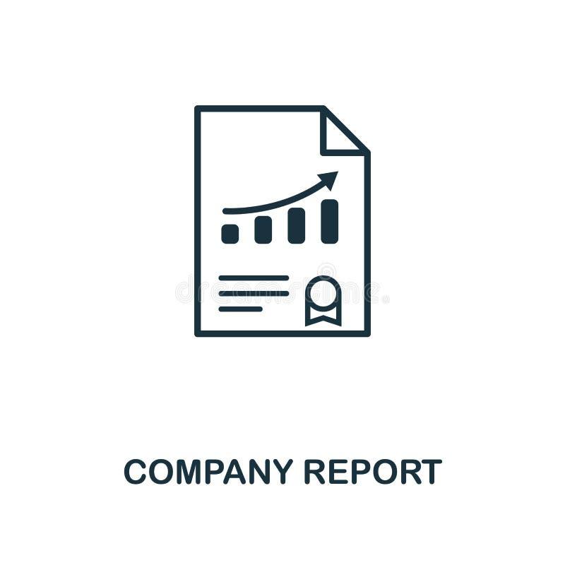 Ícone do relatório da empresa Projeto criativo do elemento da coleção dos ícones da gestão de riscos Ícone perfeito do relatório  ilustração royalty free