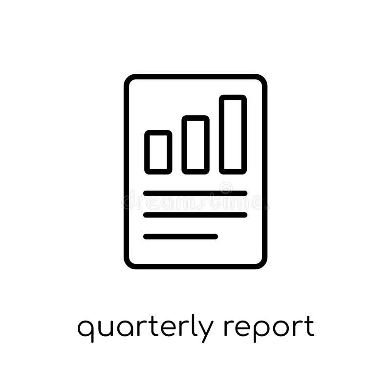 Ícone do relatório trimestral  ilustração stock