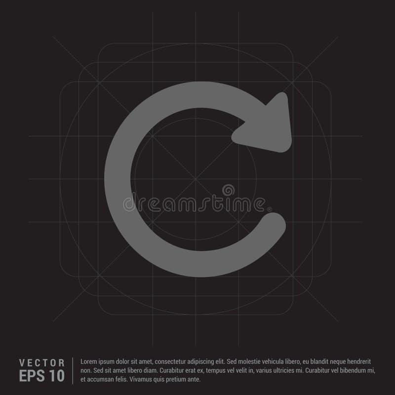 Ícone do Reload ilustração stock