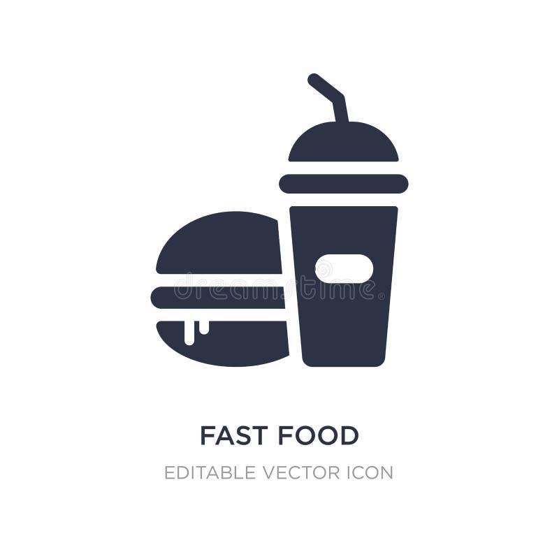 ícone do restaurante do fast food no fundo branco Ilustração simples do elemento do conceito do alimento ilustração royalty free