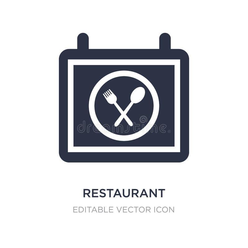 Ícone do restaurante no fundo branco Ilustração simples do elemento do conceito do alimento ilustração do vetor