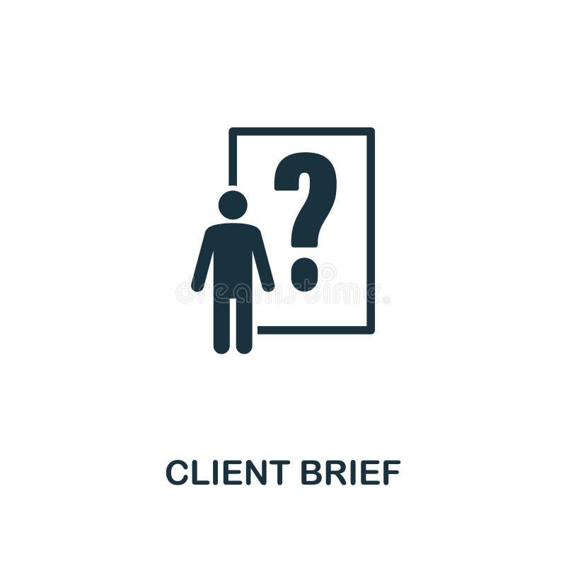 Ícone do resumo do cliente Projeto superior do estilo de anunciar a coleção do ícone UI e UX Ícone perfeito do resumo do cliente  ilustração royalty free