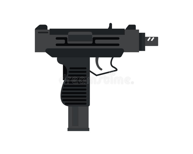 Ícone do revólver do vetor ilustração stock