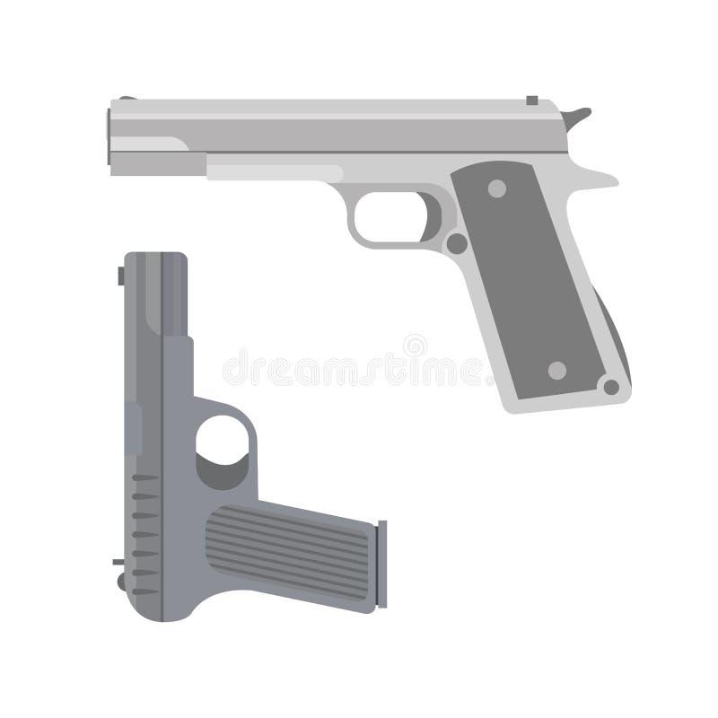 Ícone do revólver do vetor ilustração do vetor