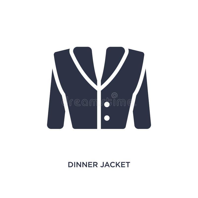 ícone do revestimento de jantar no fundo branco Ilustração simples do elemento do conceito da roupa ilustração stock