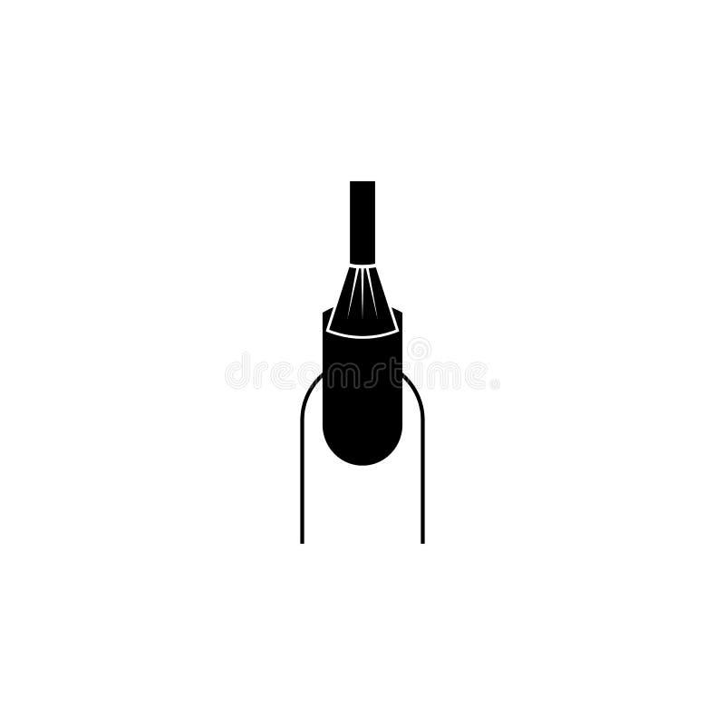 Ícone do revestimento do verniz para as unhas Elementos do ícone do bar da beleza Projeto gráfico da qualidade superior Sinais, í ilustração stock