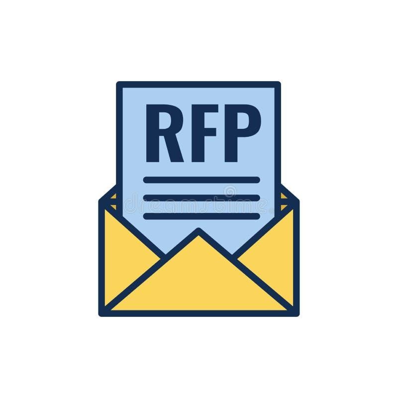 Ícone do RFP - conceito ou ideia do pedido de propostas ilustração royalty free