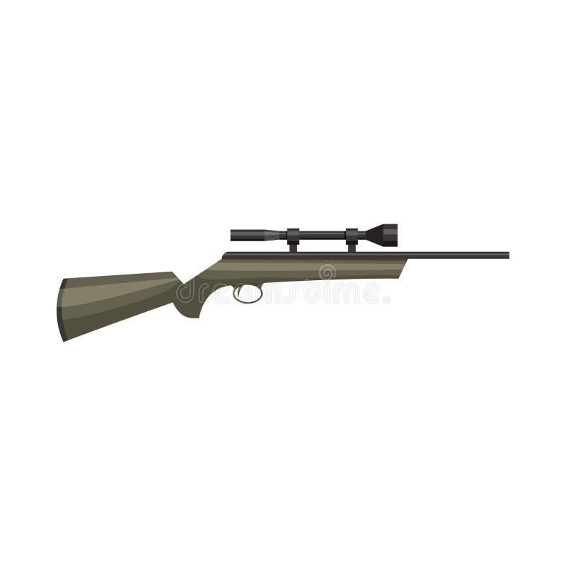 Ícone do rifle da caça, estilo dos desenhos animados ilustração do vetor