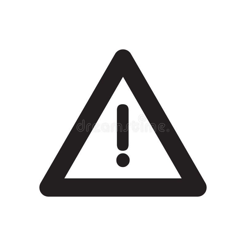 ícone do risco da construção Conceito na moda do logotipo do risco da construção sobre ilustração stock