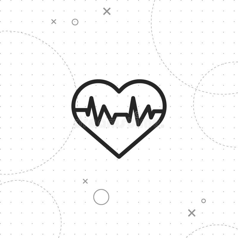 Ícone do ritmo do coração ilustração stock