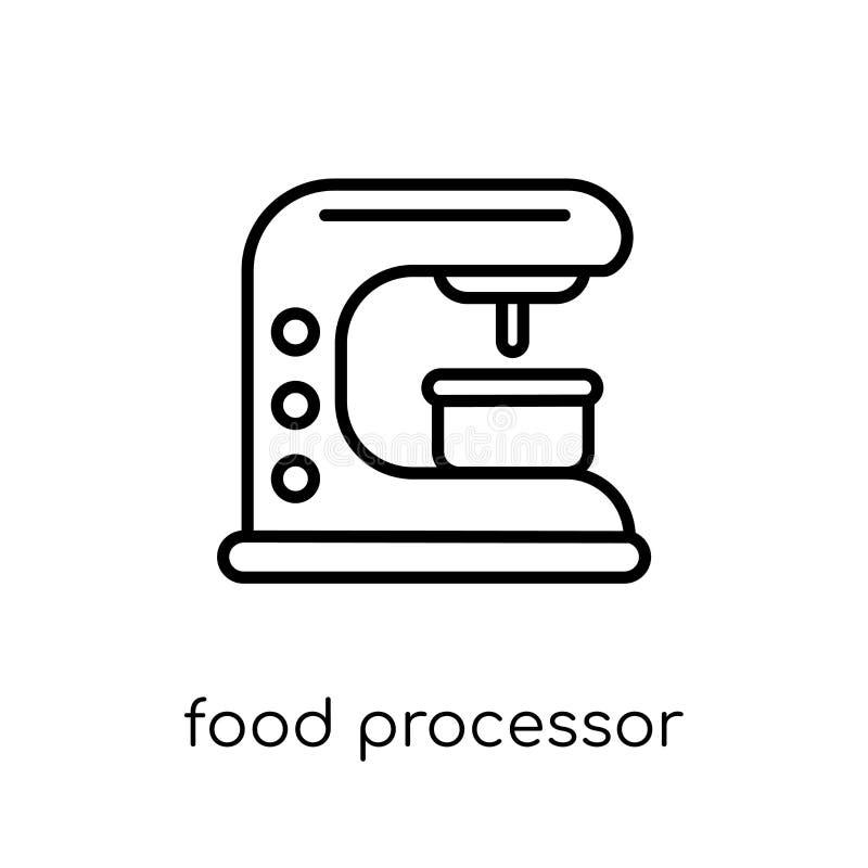 ícone do robô de cozinha Proce linear liso moderno na moda do alimento do vetor ilustração do vetor