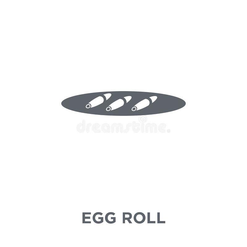 Ícone do rolo de ovo da coleção chinesa do alimento ilustração royalty free