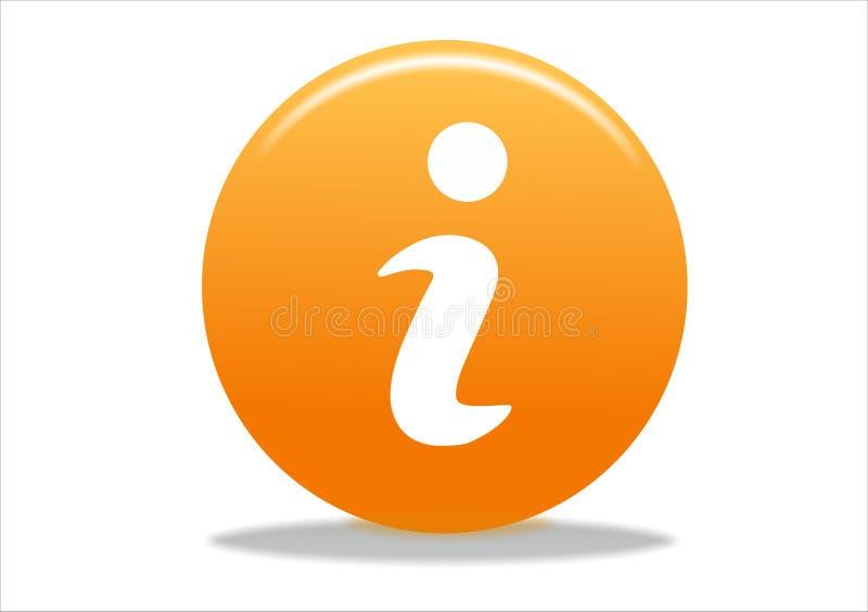 Ícone do símbolo da informação ilustração stock
