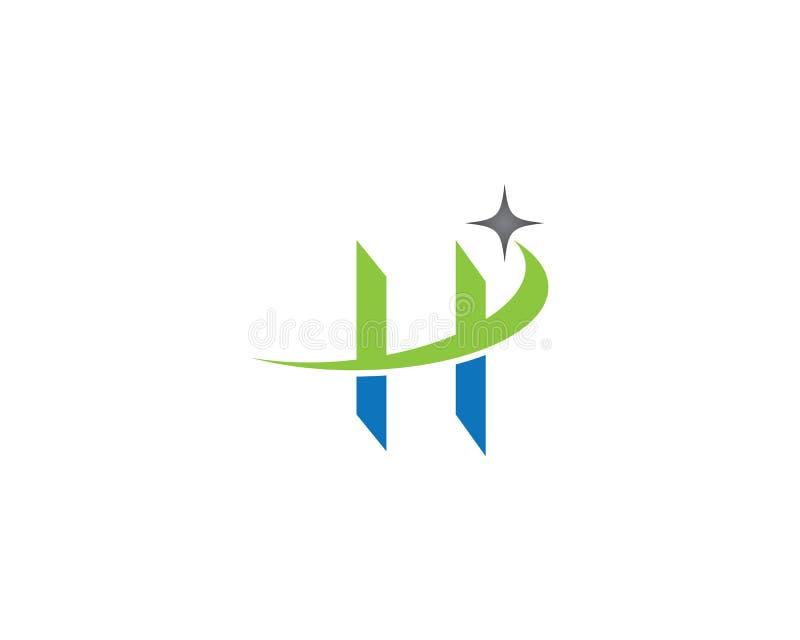 Ícone do símbolo de letra de H ilustração royalty free