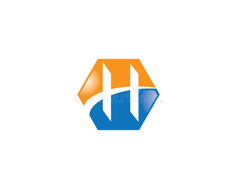 Ícone do símbolo de letra de H ilustração stock