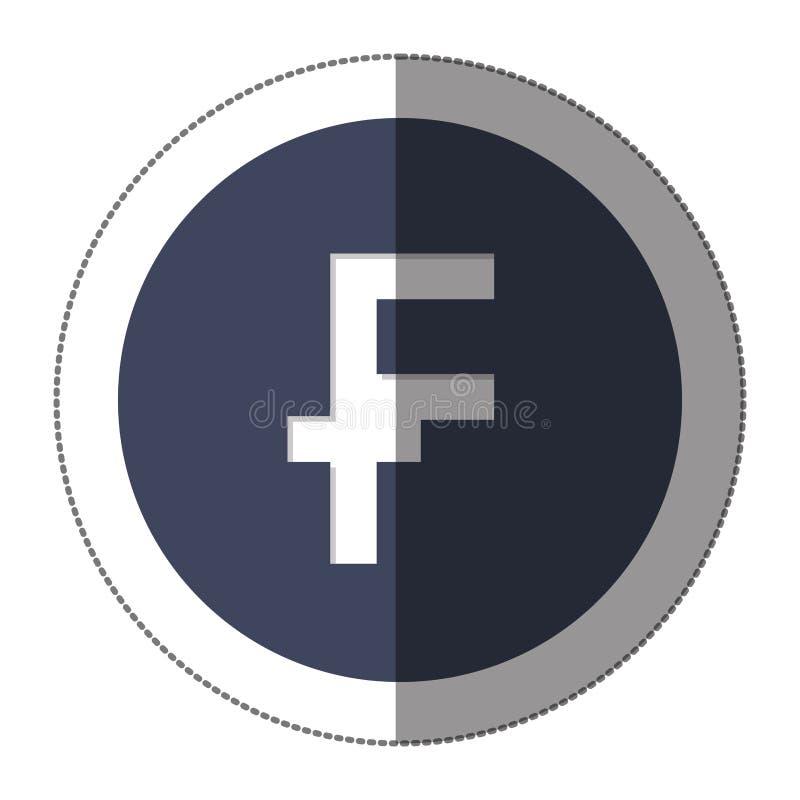 ícone do símbolo de moeda do franco ilustração do vetor