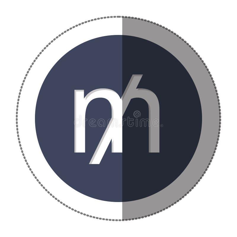 ícone do símbolo de moeda do moinho ilustração stock
