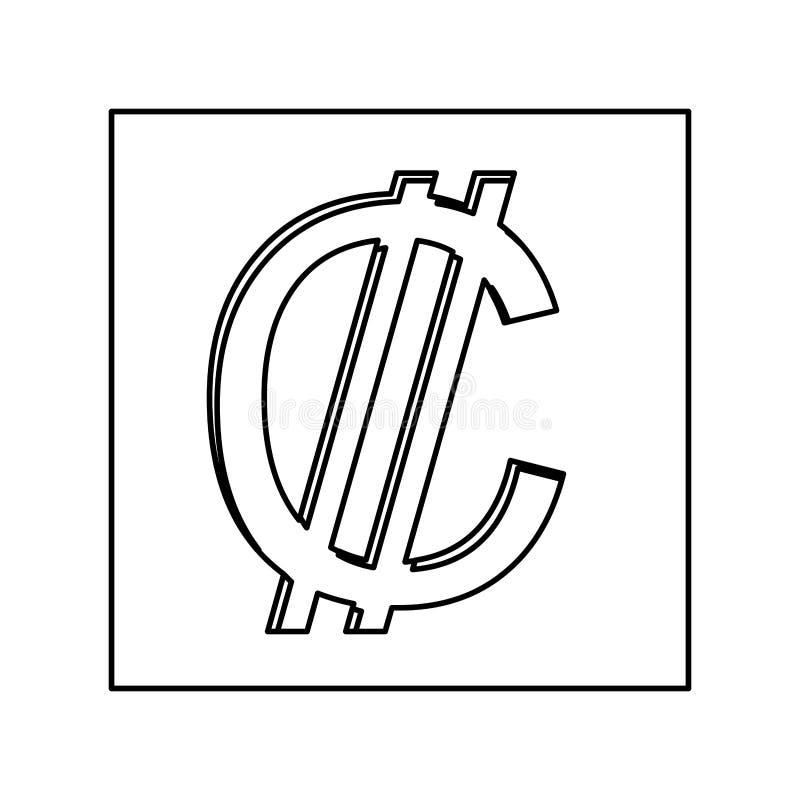 Ícone do símbolo de moeda dos dois pontos ilustração royalty free
