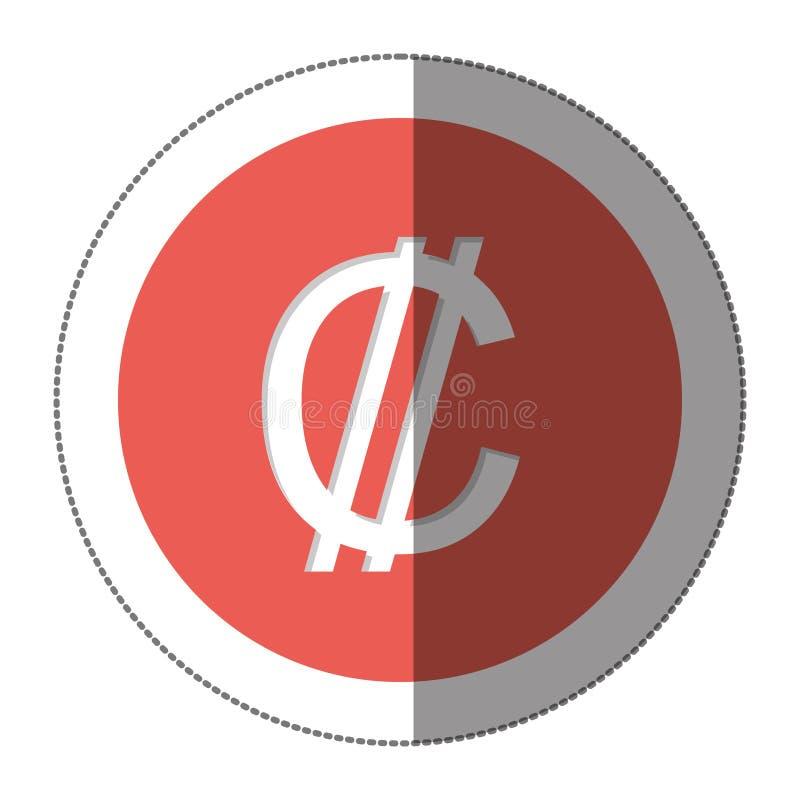 Ícone do símbolo de moeda dos dois pontos ilustração stock