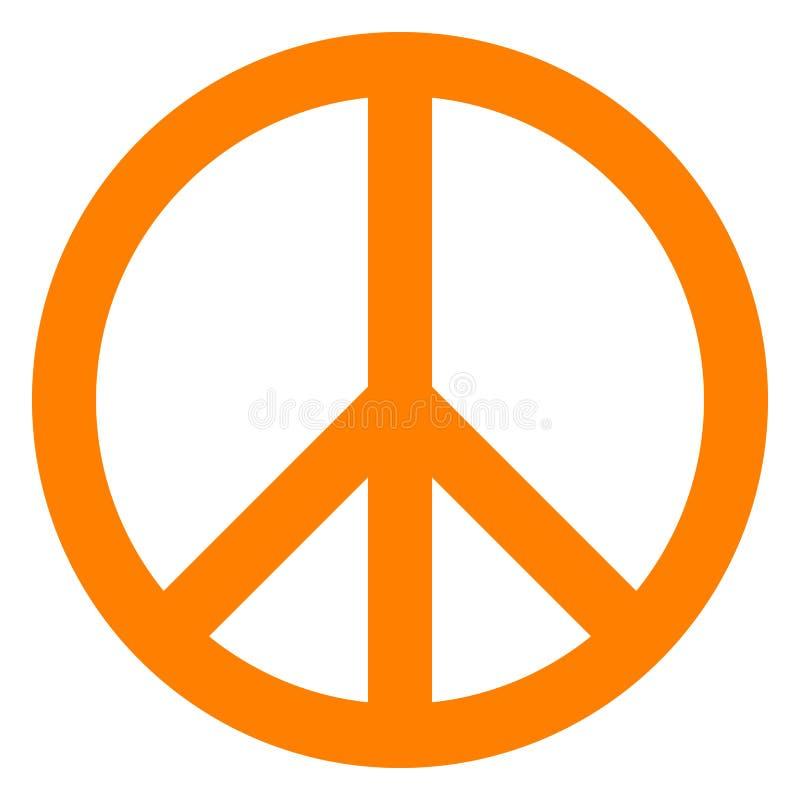 Ícone do símbolo de paz - simples alaranjado, isolado - vetor ilustração royalty free
