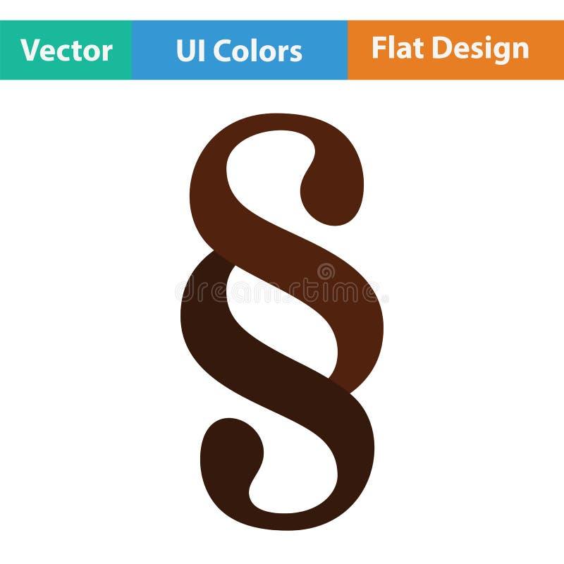 Ícone do símbolo do parágrafo ilustração stock