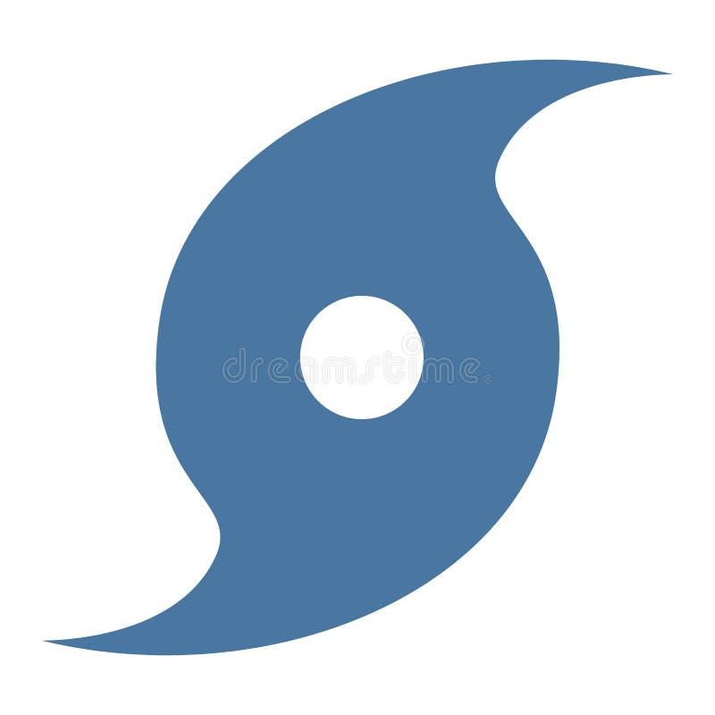 Ícone do símbolo do furacão imagens de stock royalty free